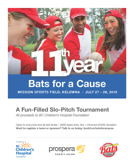 2019 Bats for a Cause Poster